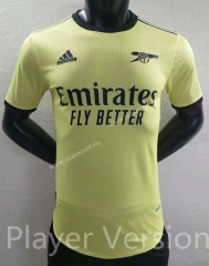 Player version 2021-2022 Arsenal Away Yellow Thailand Soccer Jersey AAA