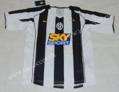 04-05 Juventus Home Black & White Thailand Soccer Jersey AAA-HR