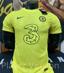 Player Version 2021-2022 Chelsea Away Yellow Thailand Soccer Jersey AAA-AL