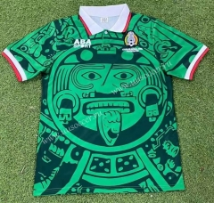 Retro Version 1998 Mexico  Home Green Thailand Soccer Jersey AAA-503