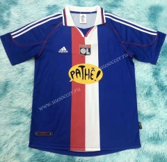 00-01  Olympique Lyonnais 2nd Away Blue Thailand Soccer Jersey AAA-HR