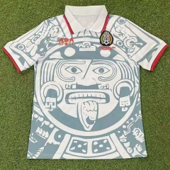 Retro Version 1998 Mexico  Away White Thailand Soccer Jersey AAA-503