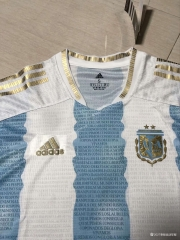 Retro version Argentina Home White & Blue Thailand Soccer Jersey AAA-2027