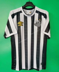 2021-2022 Santos FC Home Black & White Thailand Soccer Jersey AAA-802