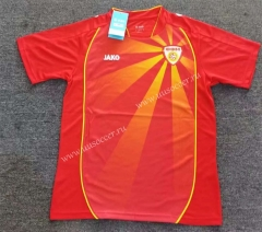 2021-2022 North Macedonia Home Red Thailand Soccer Jersey AAA-2047