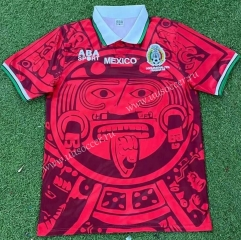 Retro Version 1998 Mexico 2rd Away Red Thailand Soccer Jersey AAA-503