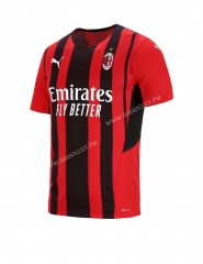 Player Version 2021-22 AC Milan Red & Black Thailand Soccer Jersey AAA-807