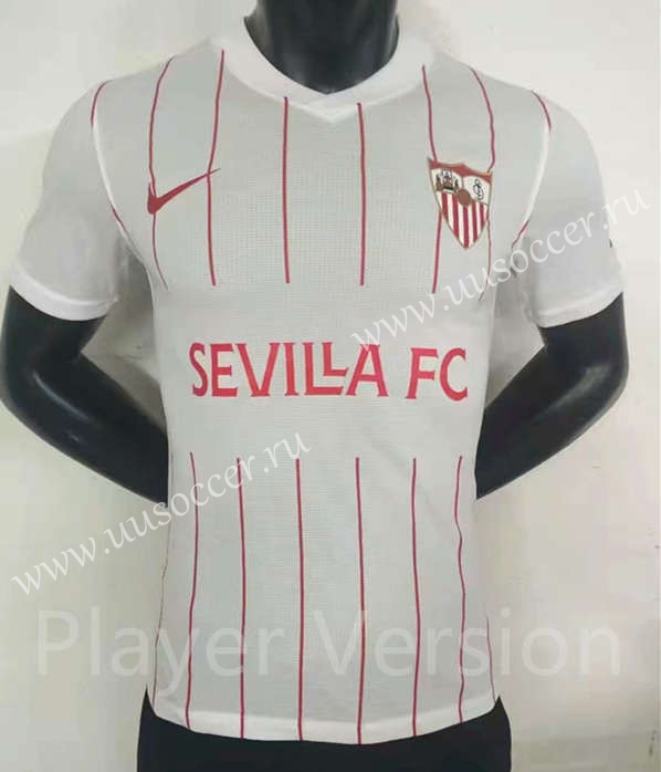 Player Version 2021 2022 Sevilla Home White Thailand Soccer Jersey Aaa Sevilla